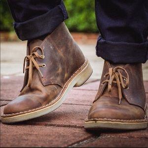 Clarks Original Leather Chukka Desert Boots 9 1/2